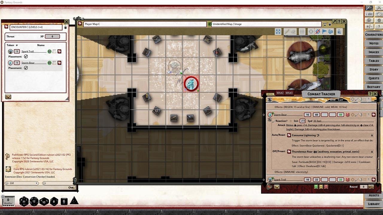 Fantasy Grounds - Pathfinder 2 RPG - Pathfinder Society Scenario #2-05: Balancing the Scales screenshot