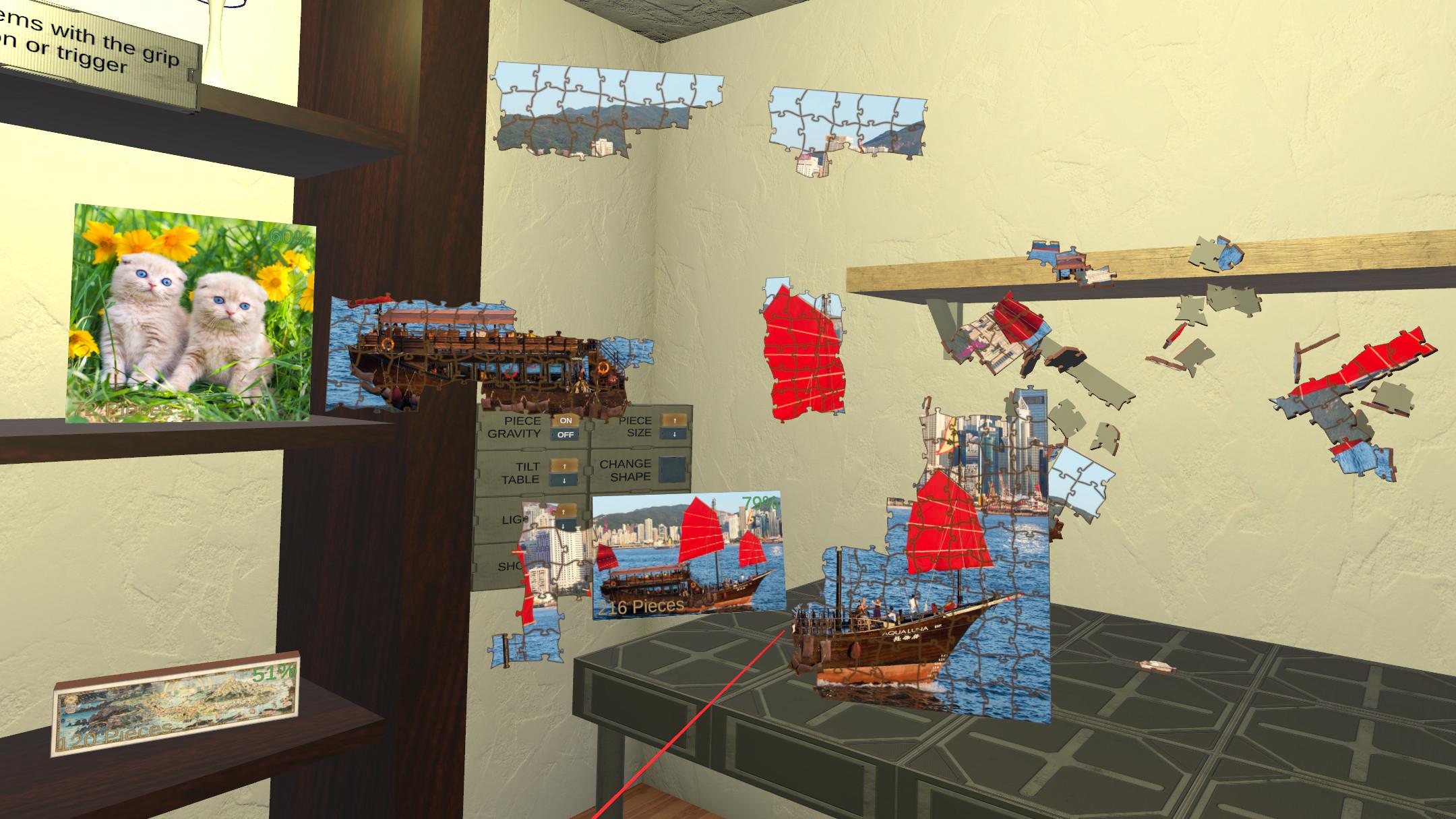 Jigsaw Puzzle VR screenshot