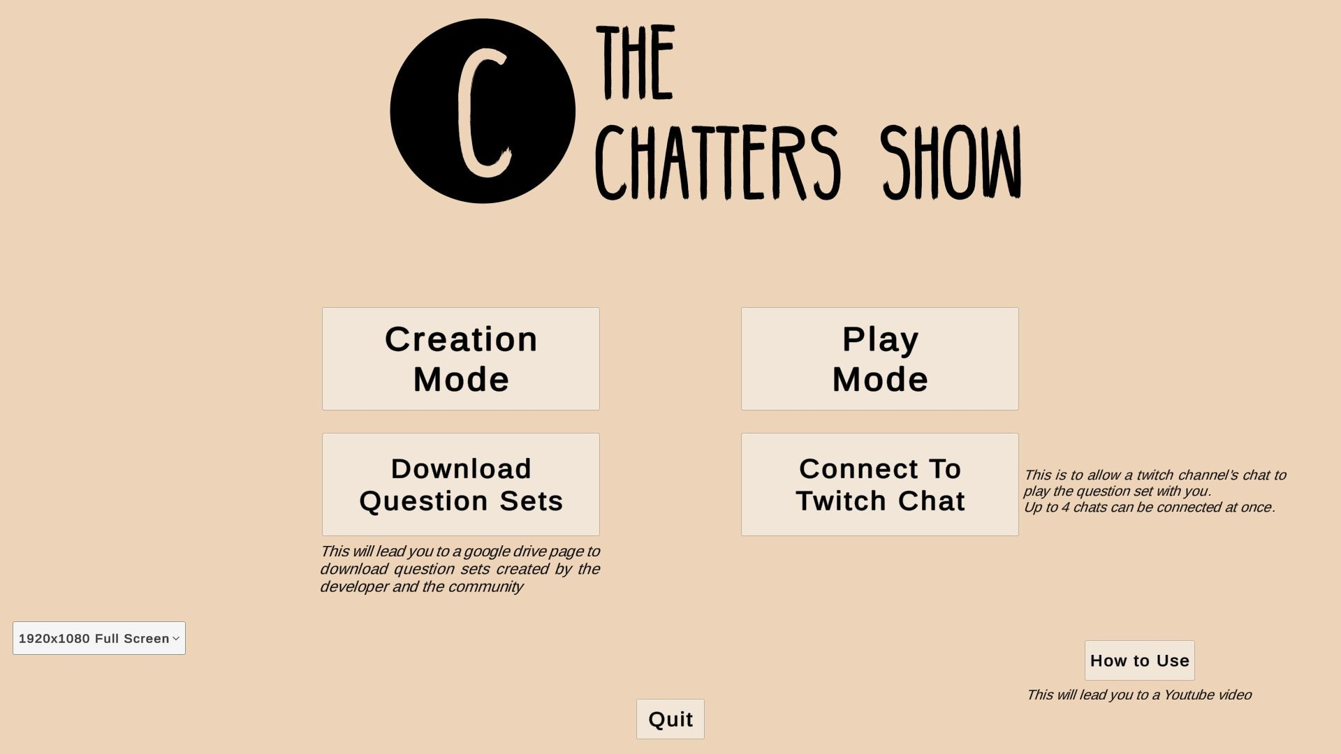 The Chatters Show screenshot
