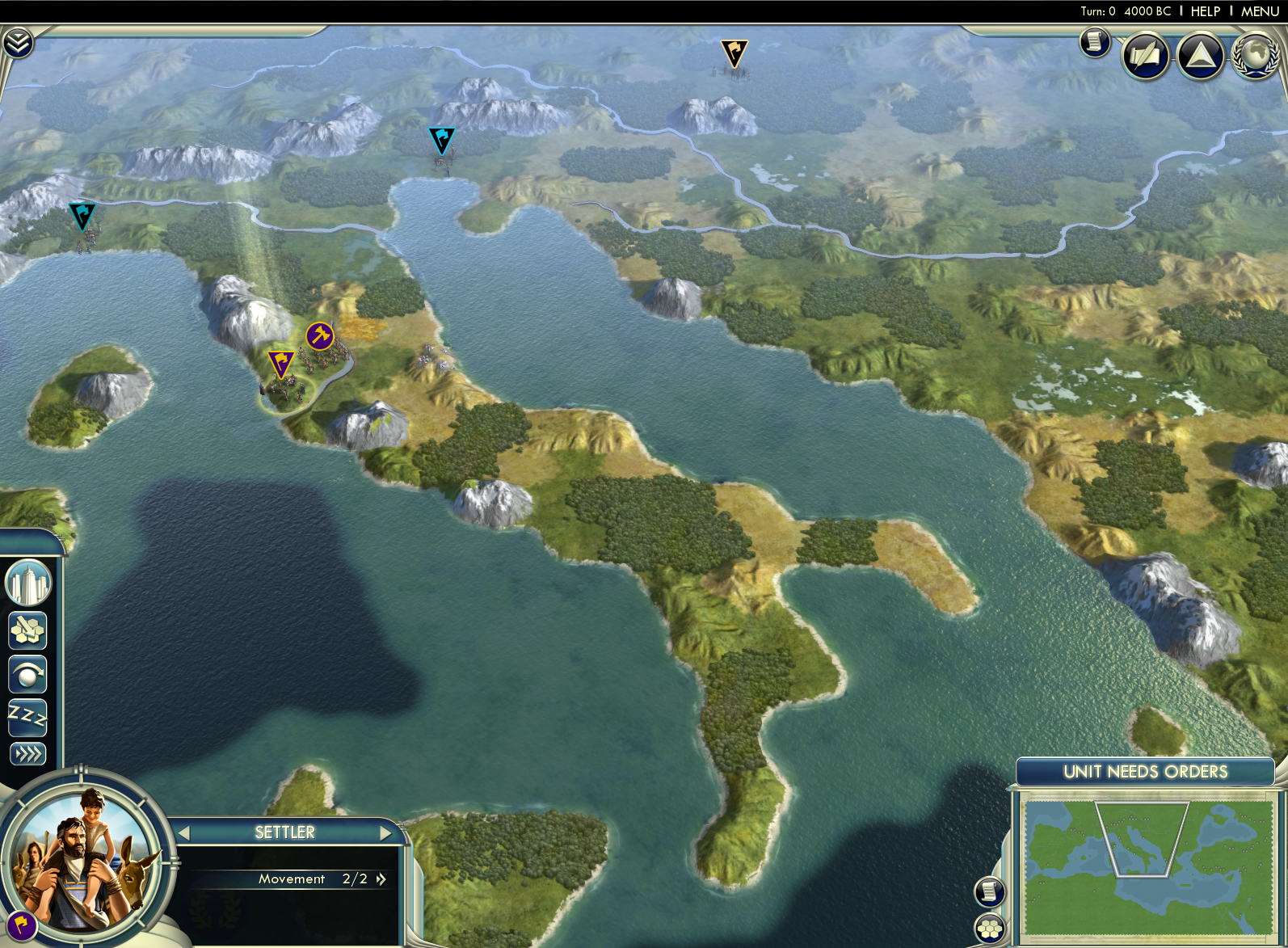 Civilization V - Cradle of Civilization Map Pack: Mediterranean screenshot