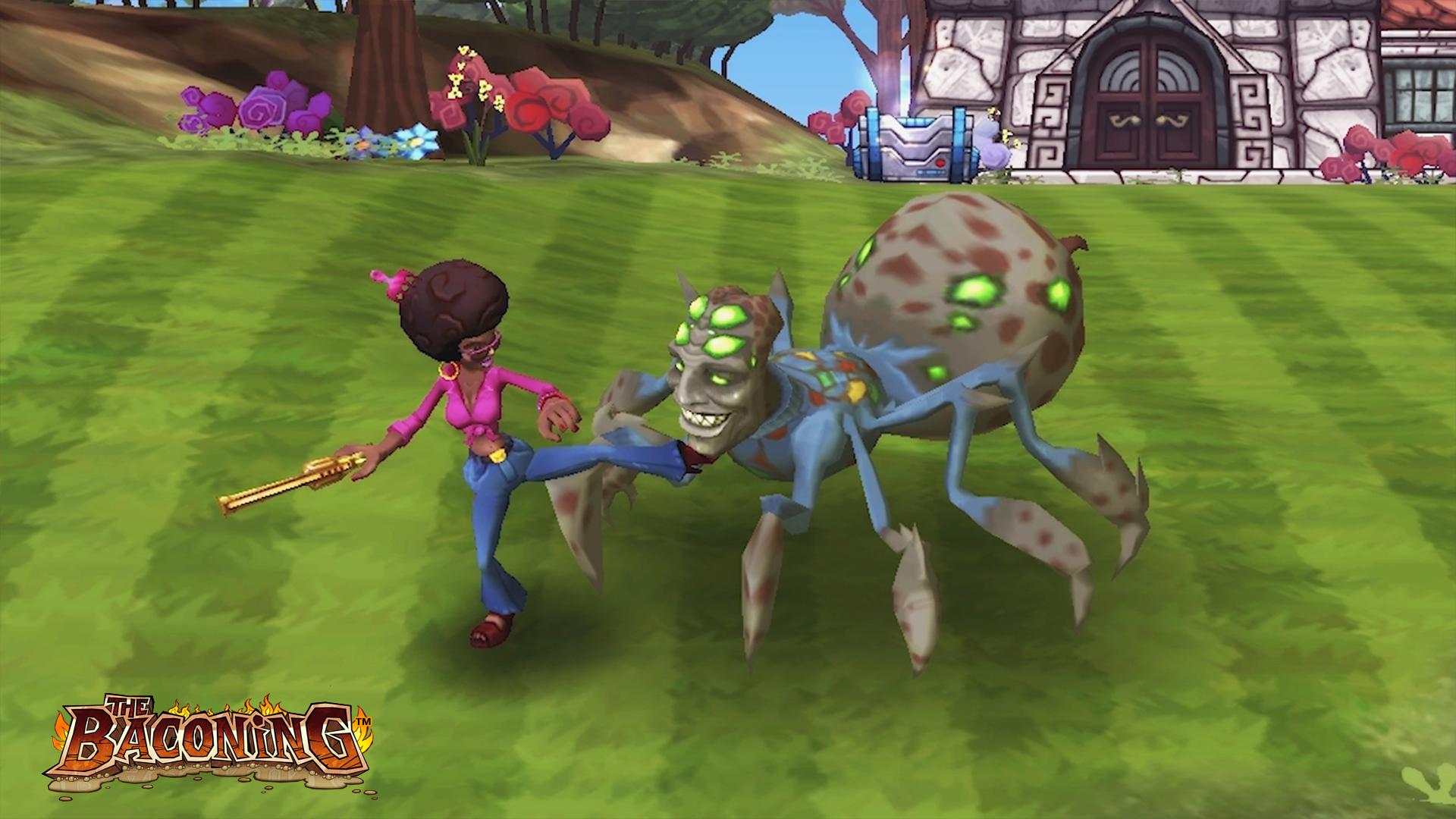 The Baconing DLC - Roesha – One Bad Mutha Co-op Character screenshot