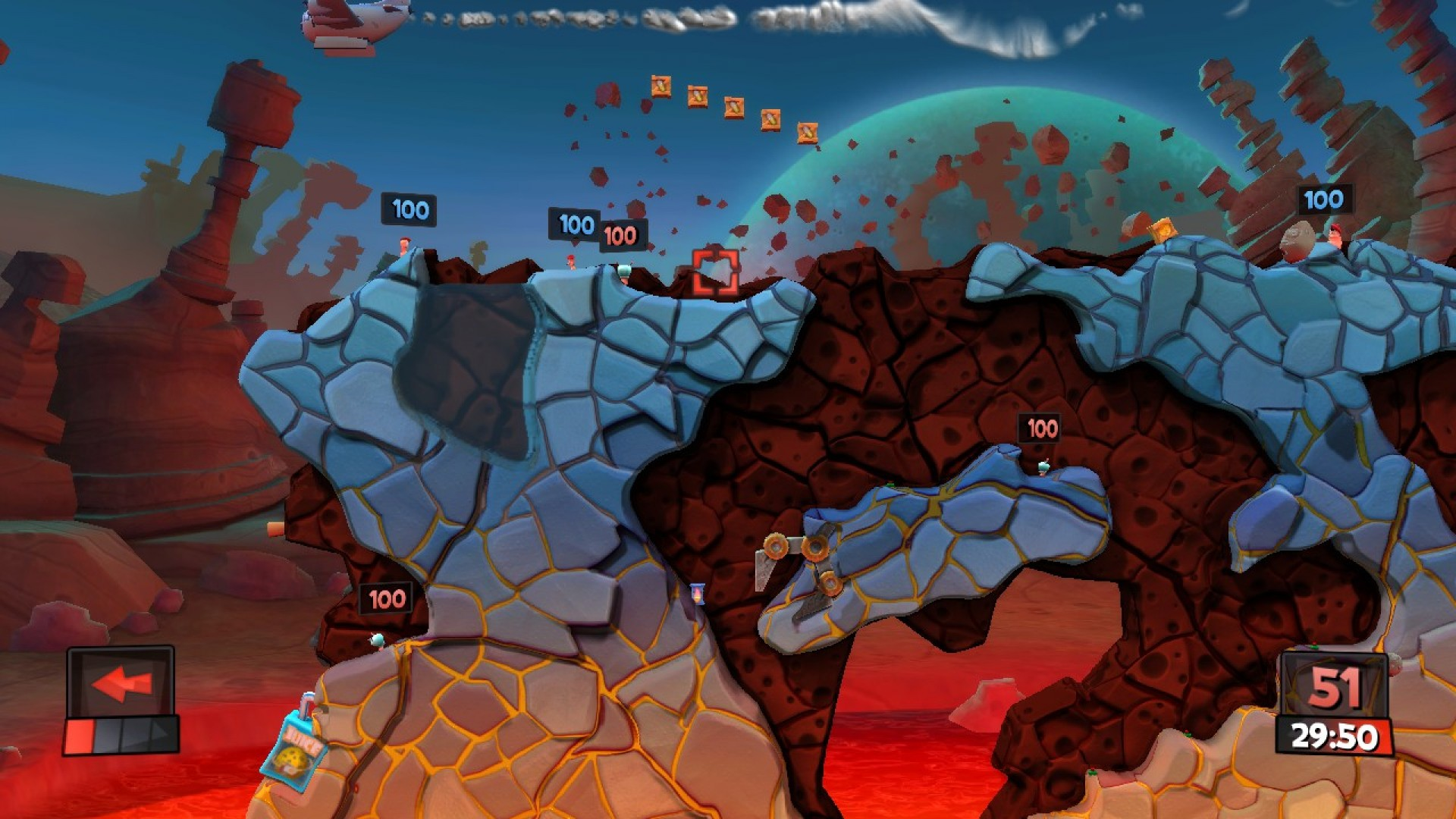 Worms Revolution - Mars Pack screenshot