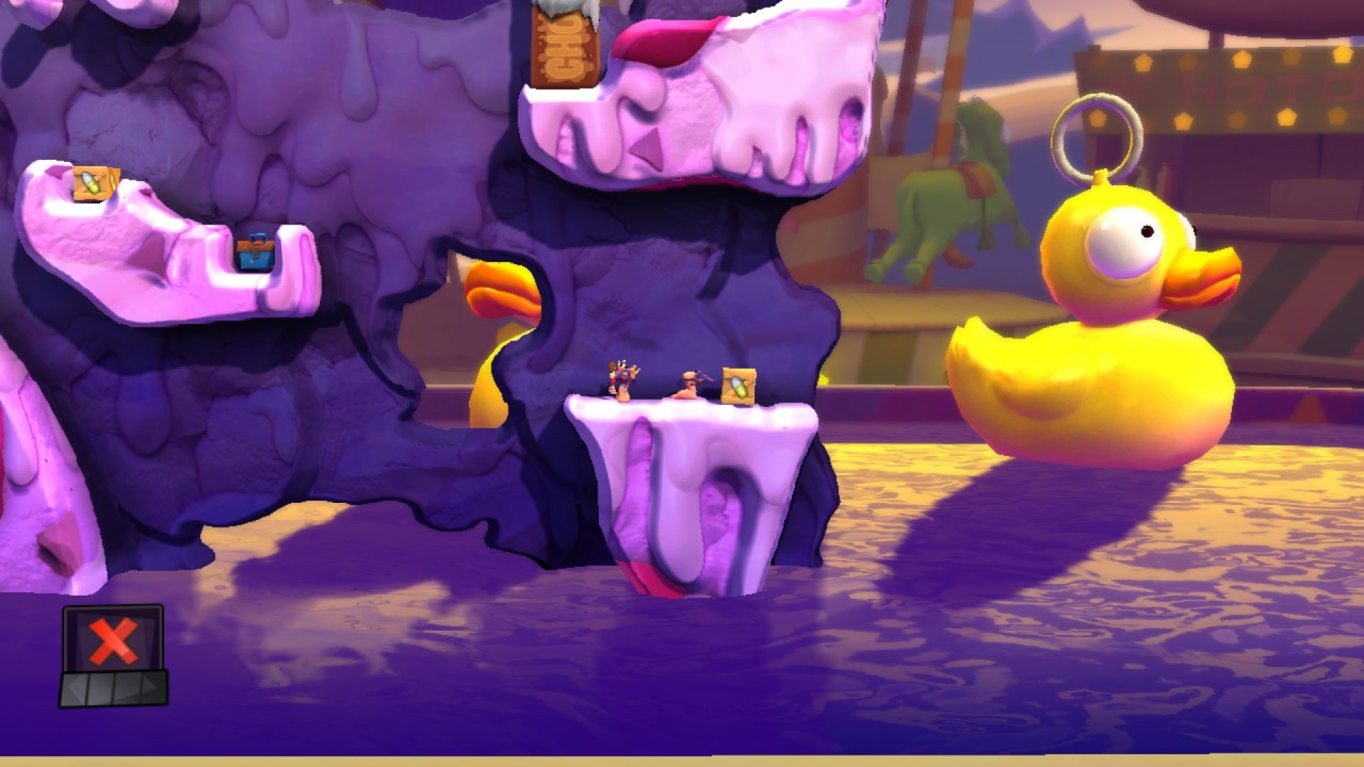 Worms Revolution: Funfair DLC screenshot