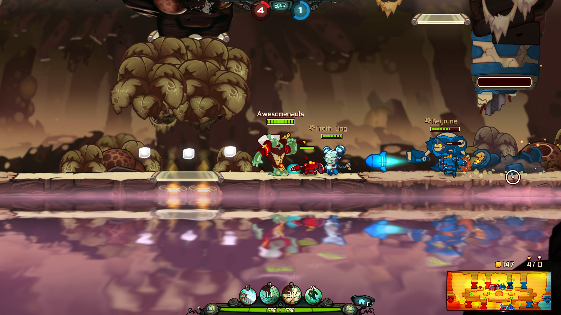 Awesomenauts - the 2D moba screenshot