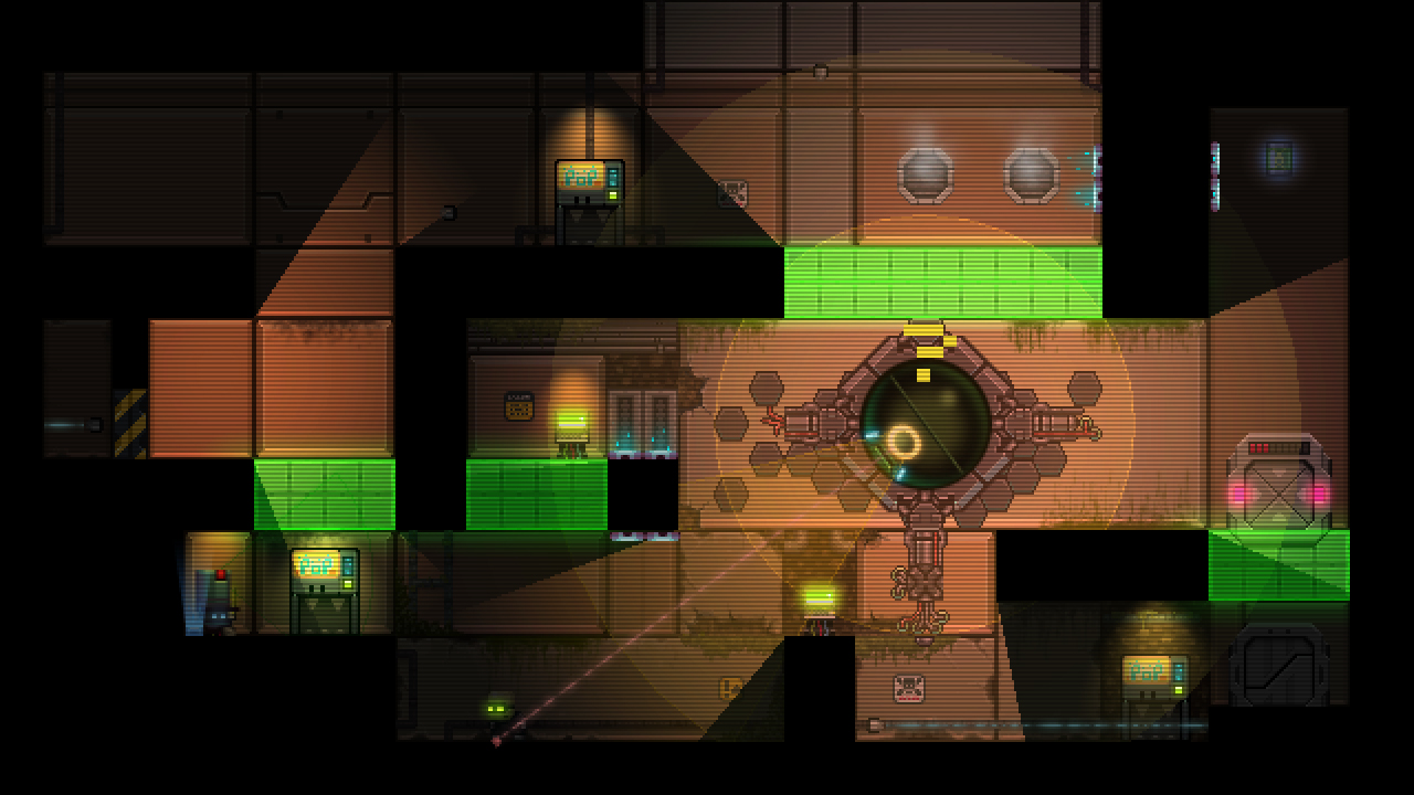 Stealth Bastard Deluxe - The Teleporter Chambers screenshot