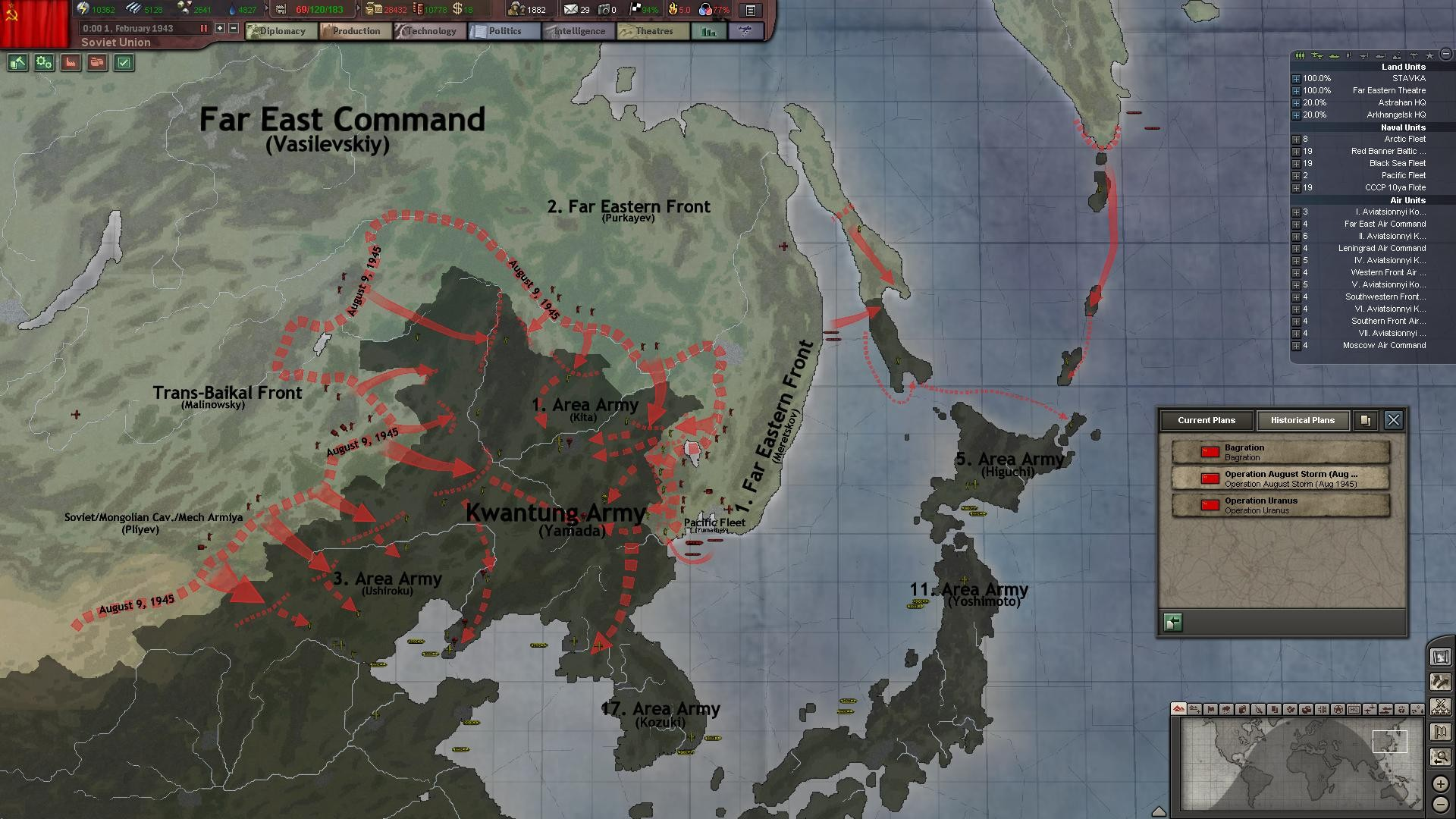 Hearts of Iron III: Their Finest Hour screenshot