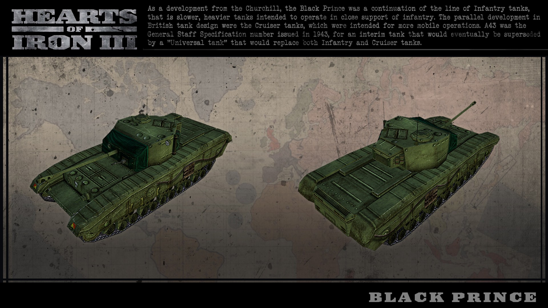 Hearts of Iron III: British Vehicle Spritepack screenshot
