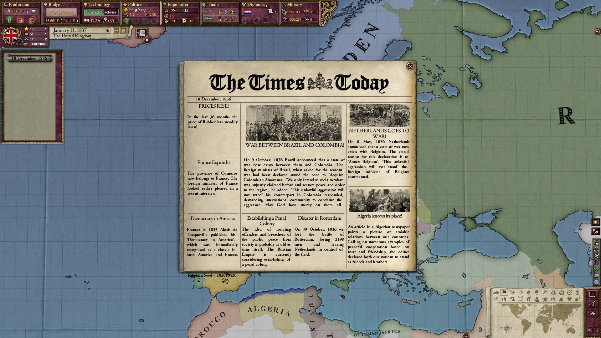 Victoria II: Heart of Darkness screenshot