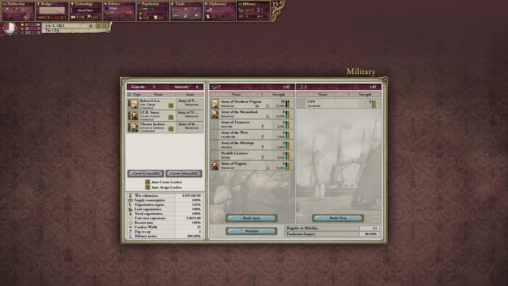 Victoria II: Songs of the Civil War screenshot
