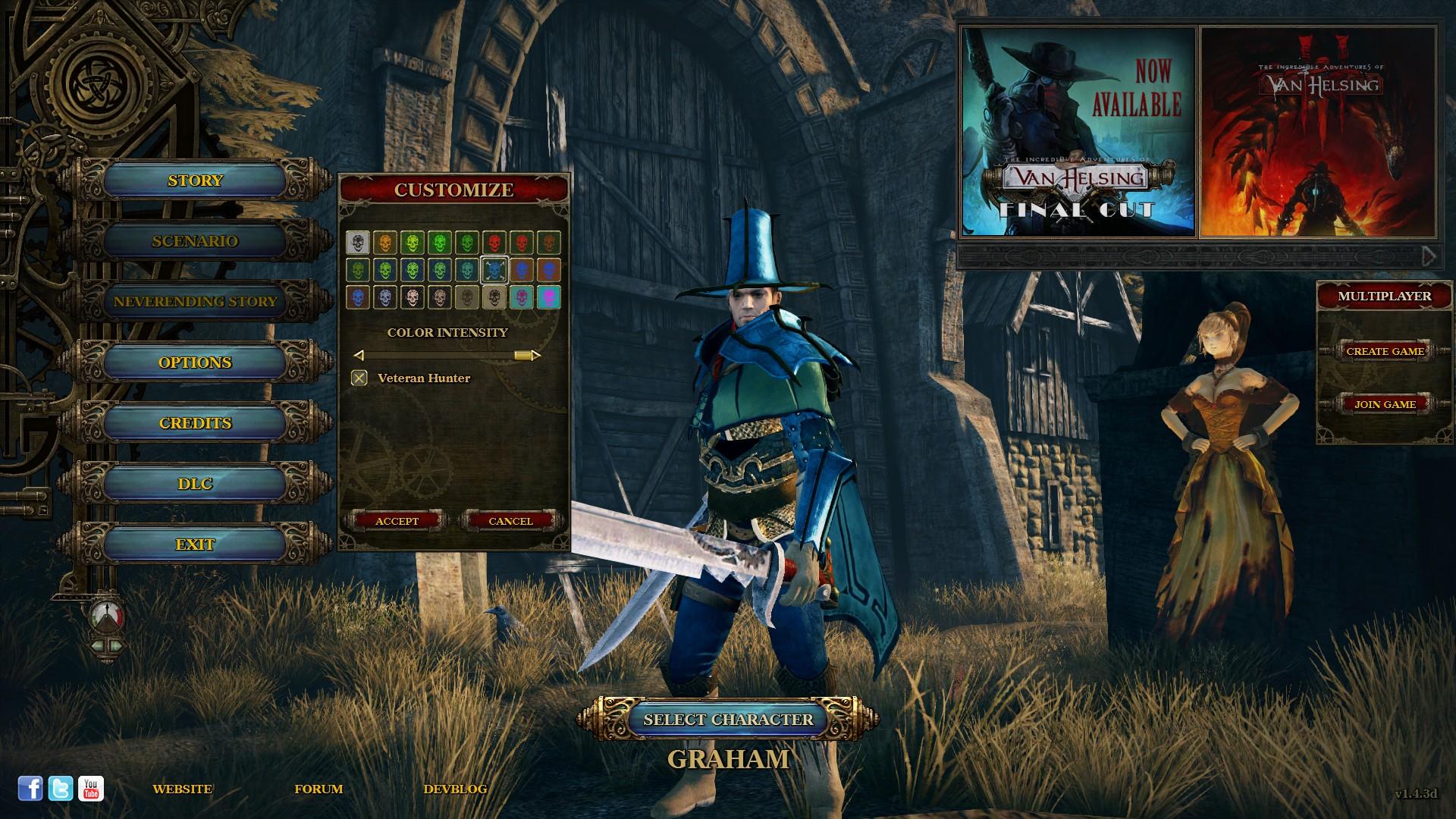 Van Helsing: Veteran Multiplayer Skin screenshot