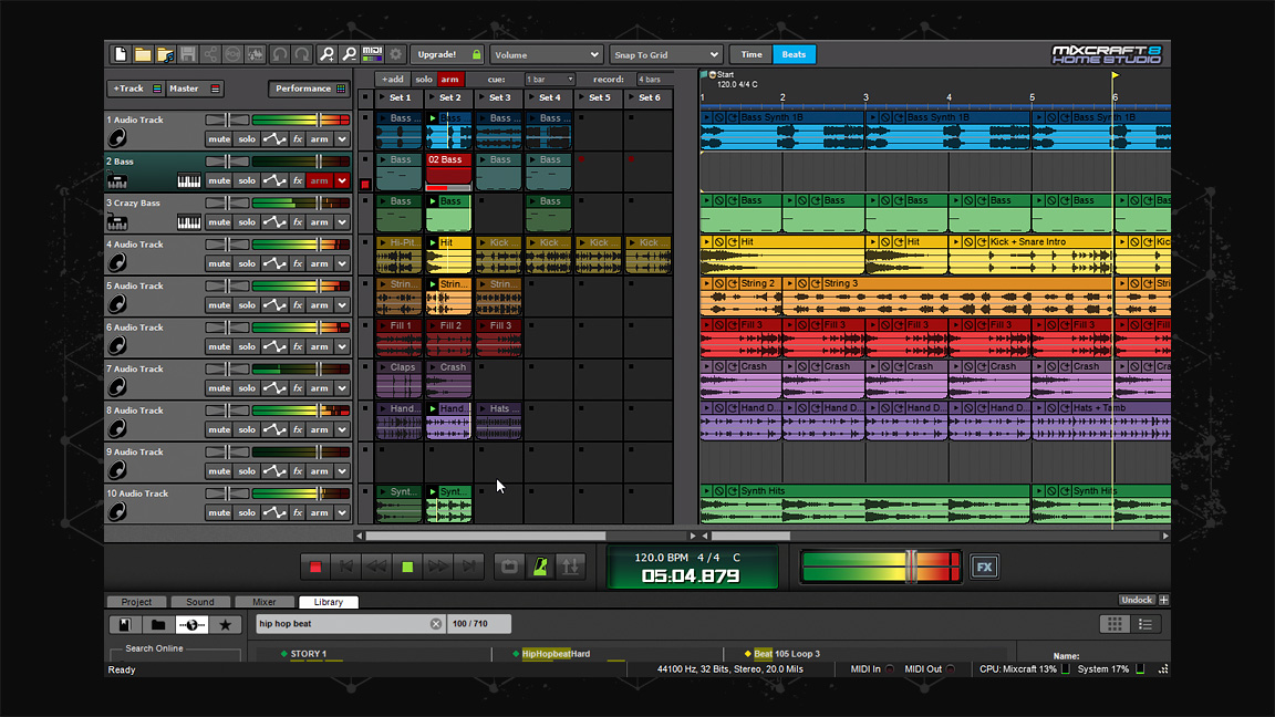 Mixcraft 8 Home Studio screenshot