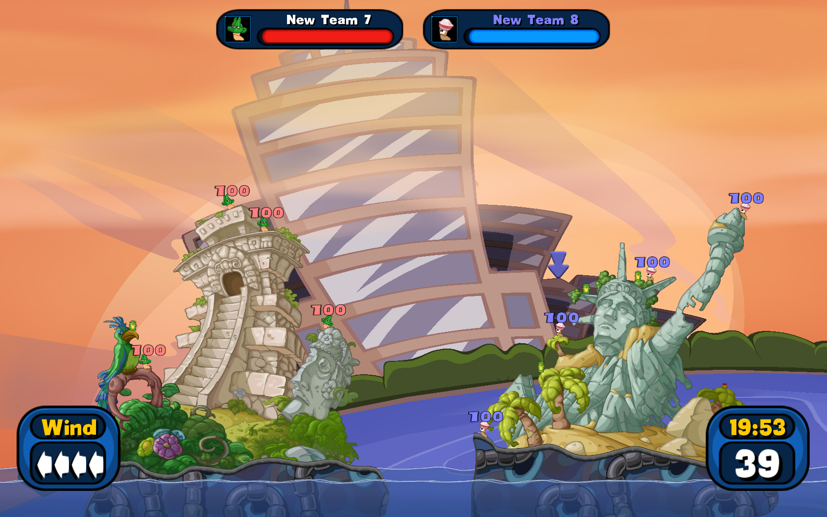 "Worms Reloaded: The ""Pre-order Forts and Hats"" DLC Pack screenshot"