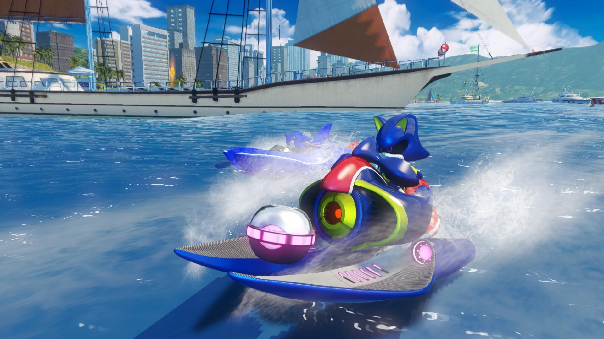 Sonic and All-Stars Racing Transformed: Metal Sonic & Outrun DLC screenshot