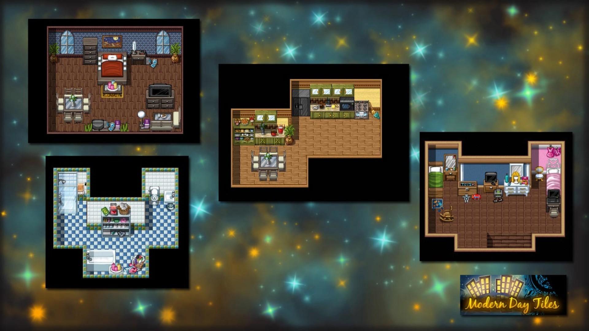 Rpg maker vx ace modern day tiles resource pack for Apartment 412 rpg maker fes