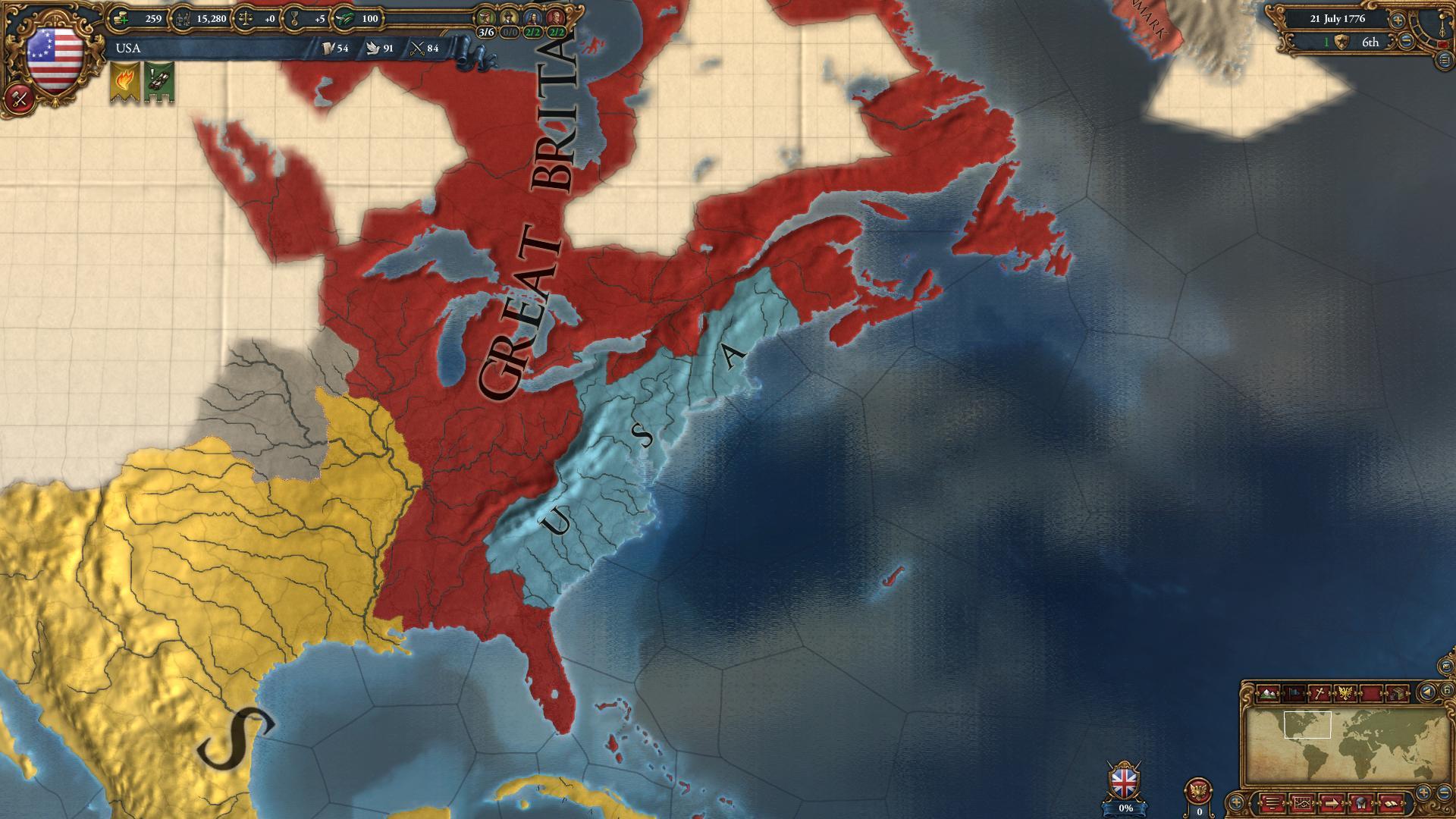 Europa Universalis IV: American Dream screenshot