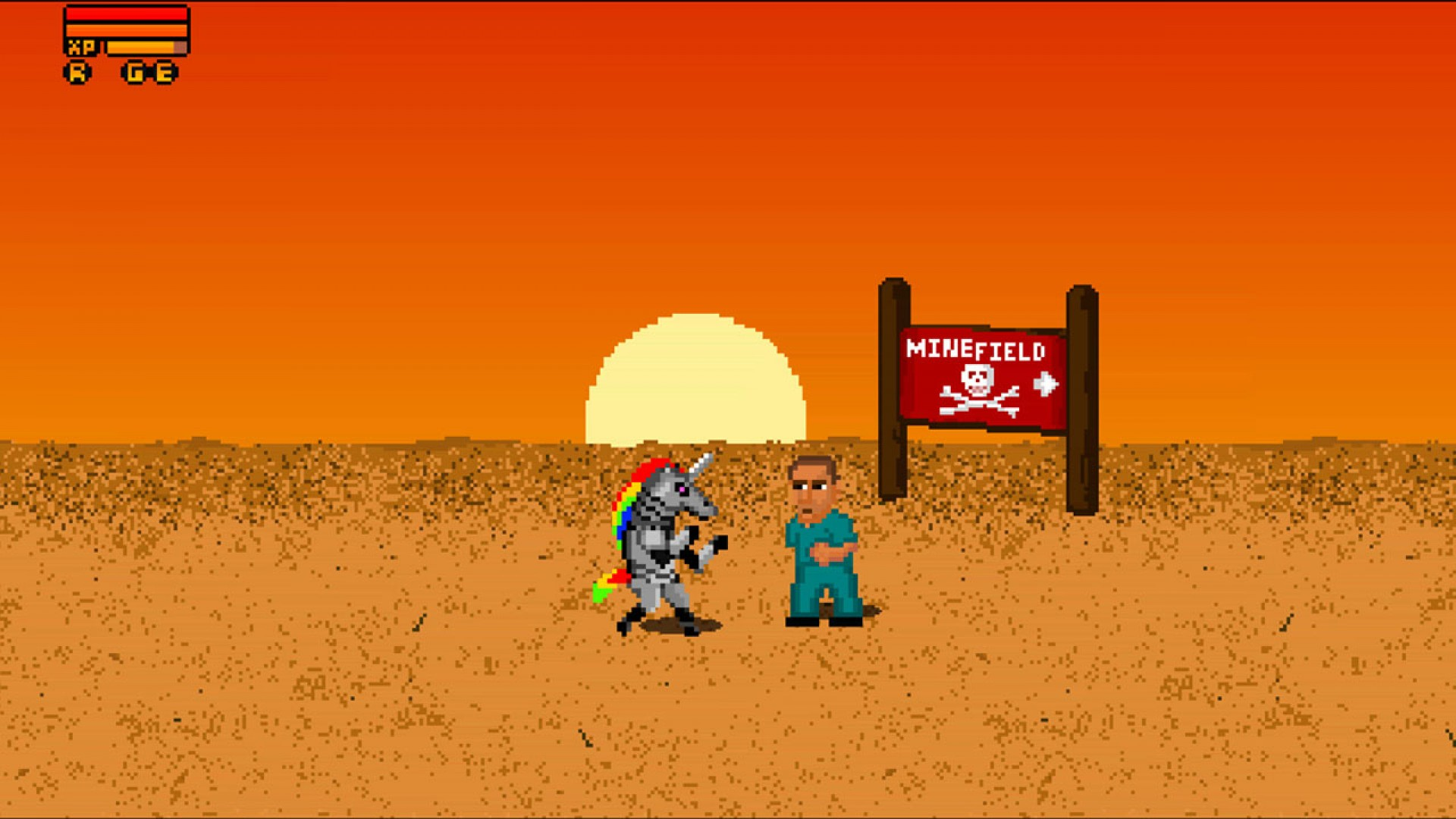 Fist Puncher: Robot Unicorn Attack Character screenshot