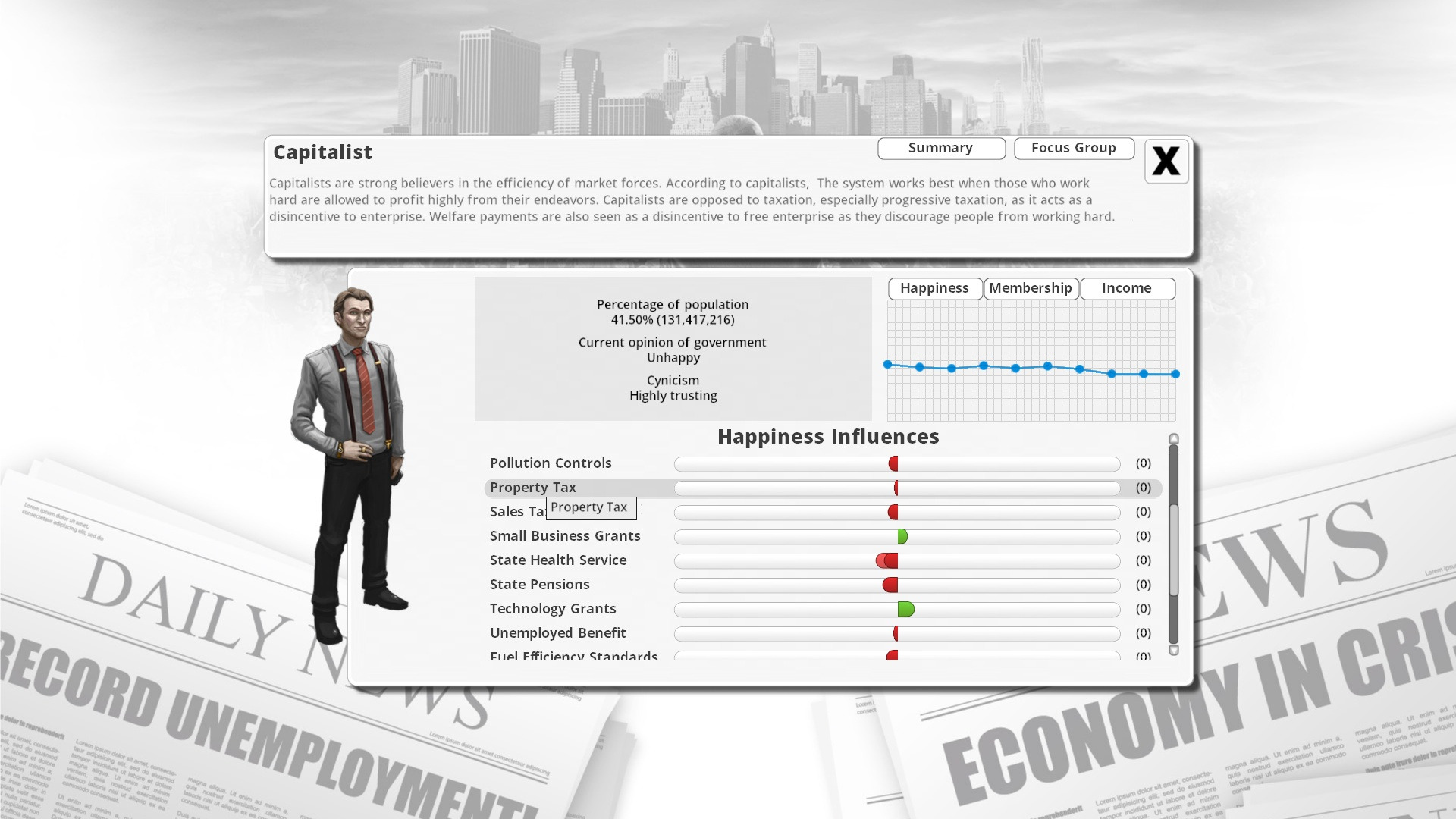 Democracy 3 screenshot