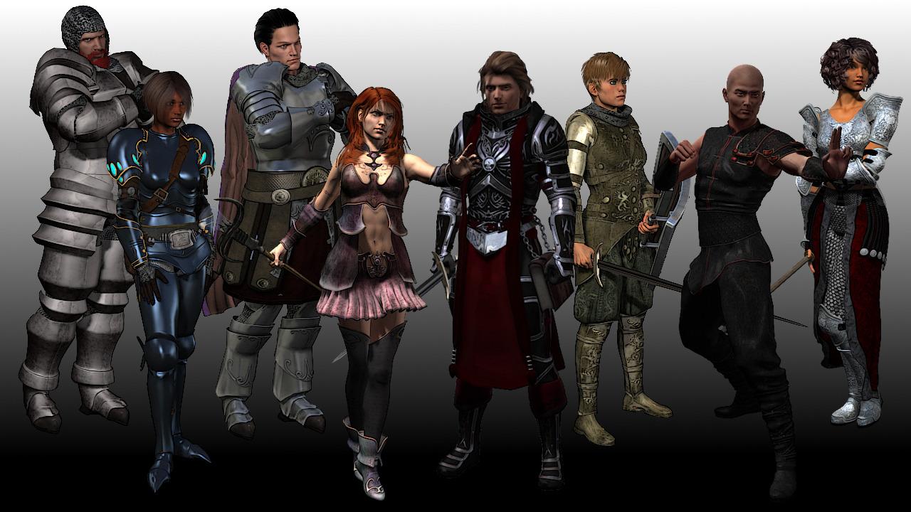RPG Maker VX Ace - High Fantasy Main Party Pack I screenshot