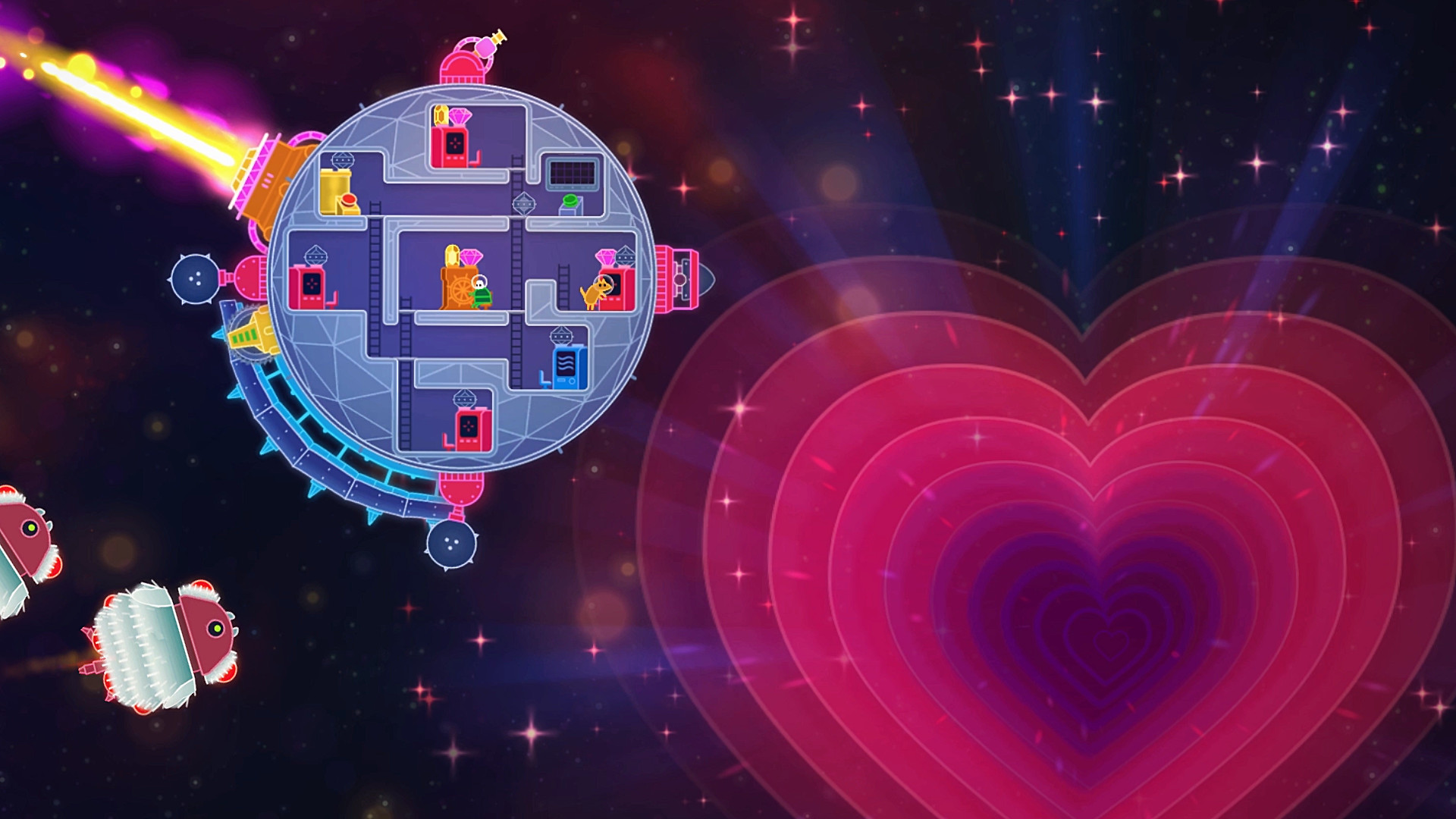 Lovers in a Dangerous Spacetime screenshot