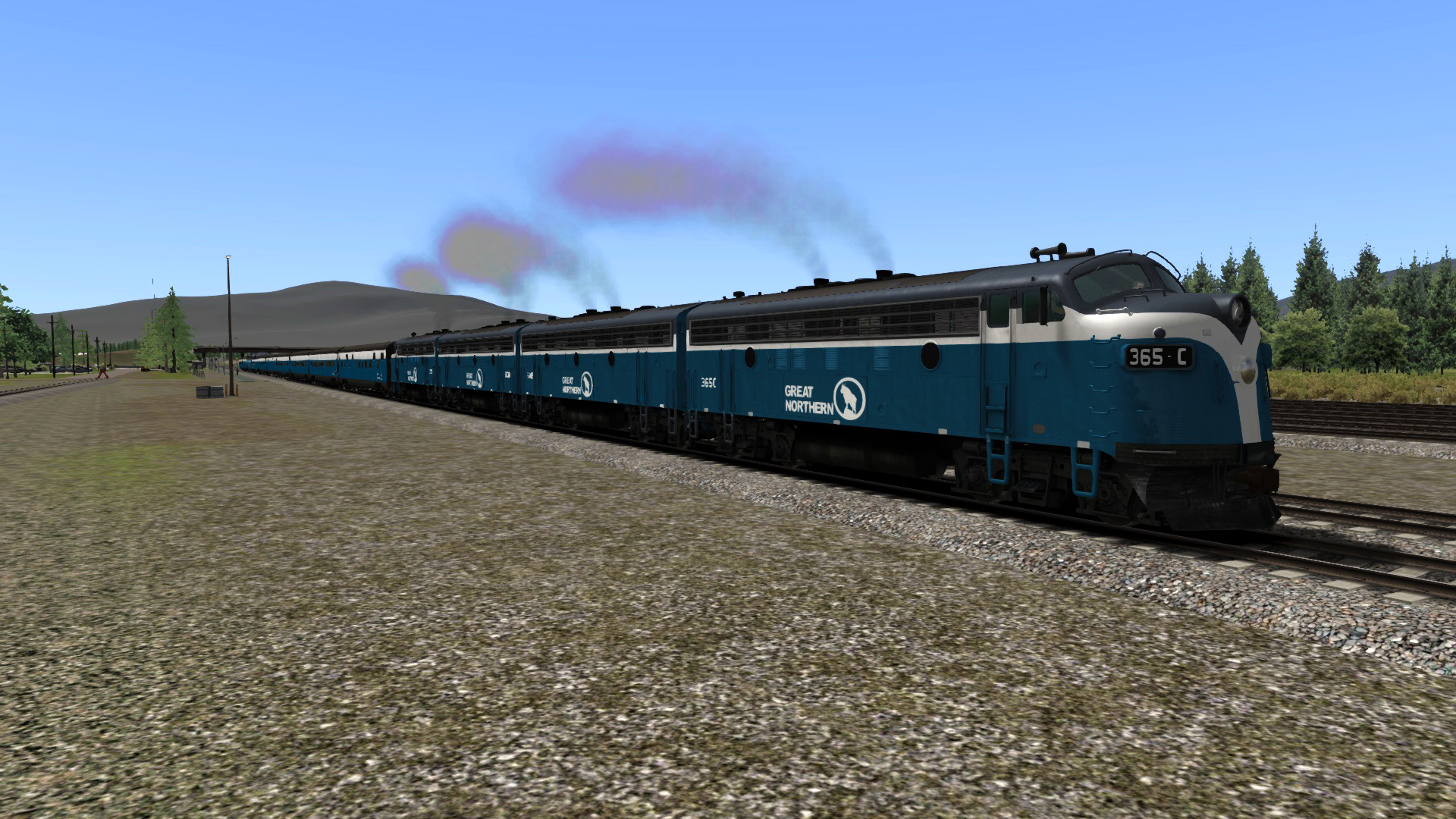 Great Northern F7 Big Sky Blue Add-on Livery screenshot