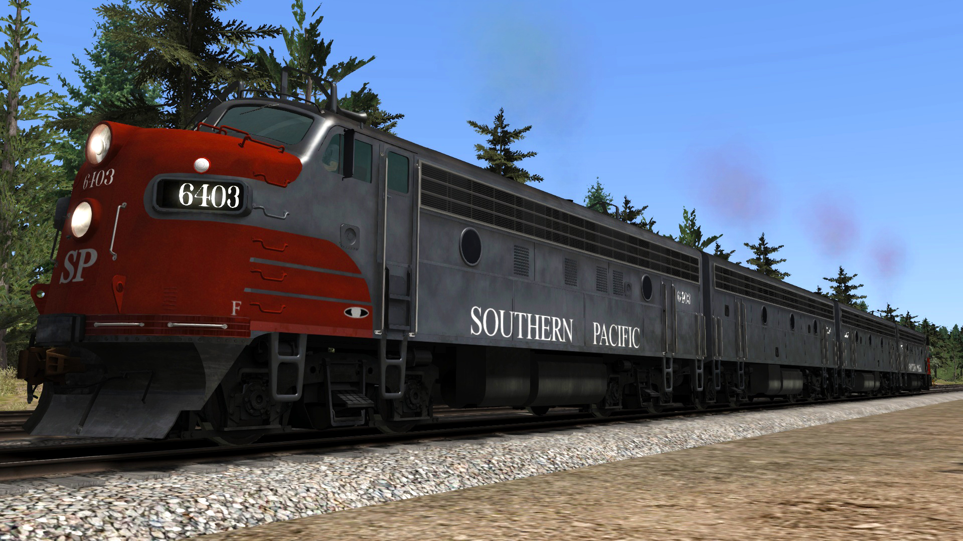 """F7 Southern Pacific """"Bloody Nose"""" Add-on Livery screenshot"""