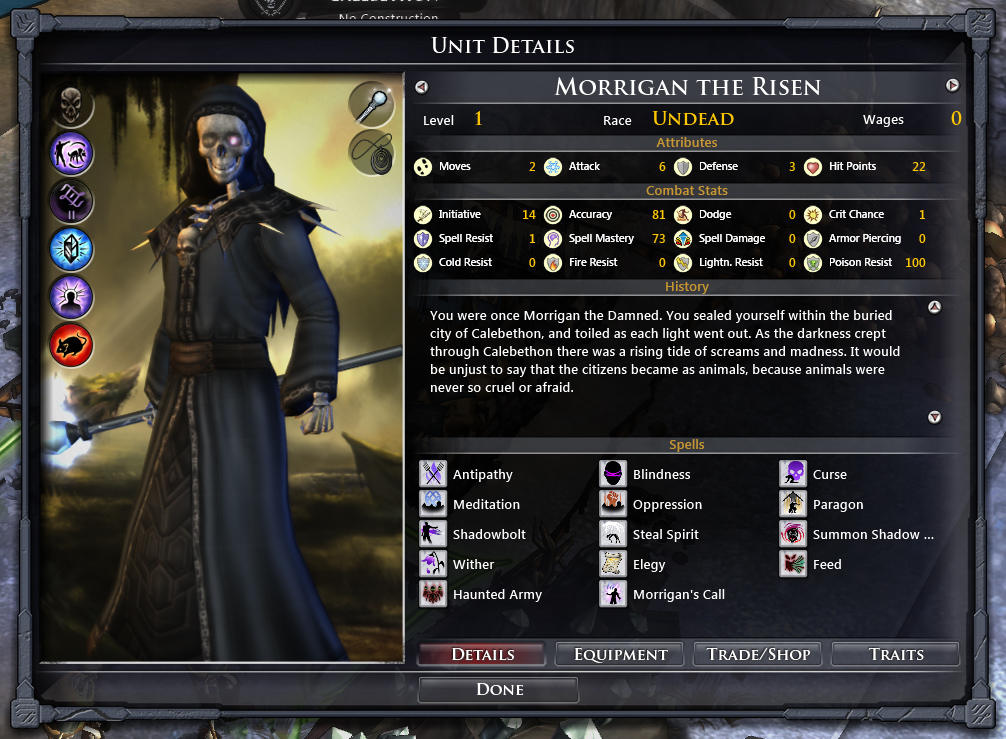 Fallen Enchantress: Legendary Heroes - The Dead World DLC screenshot