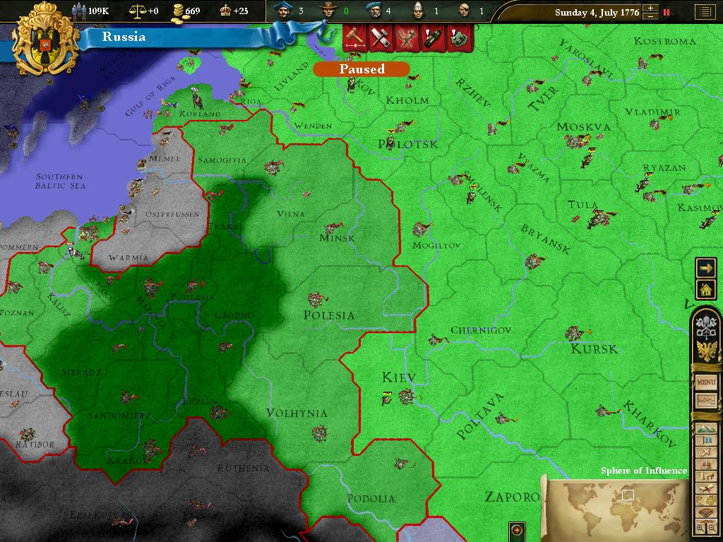 Europa Universalis III: Heir to the Throne screenshot