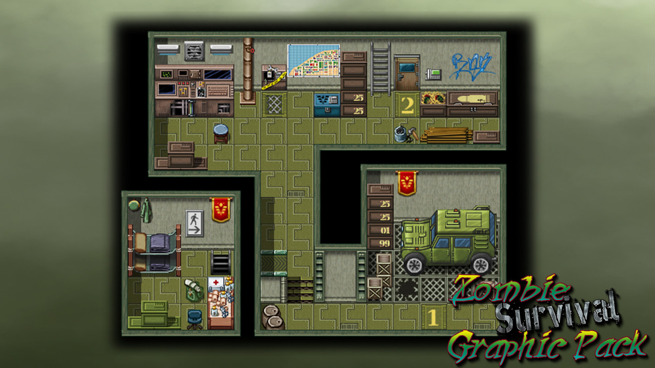 Rpg maker zombie survival graphic pack failmid for Online house maker