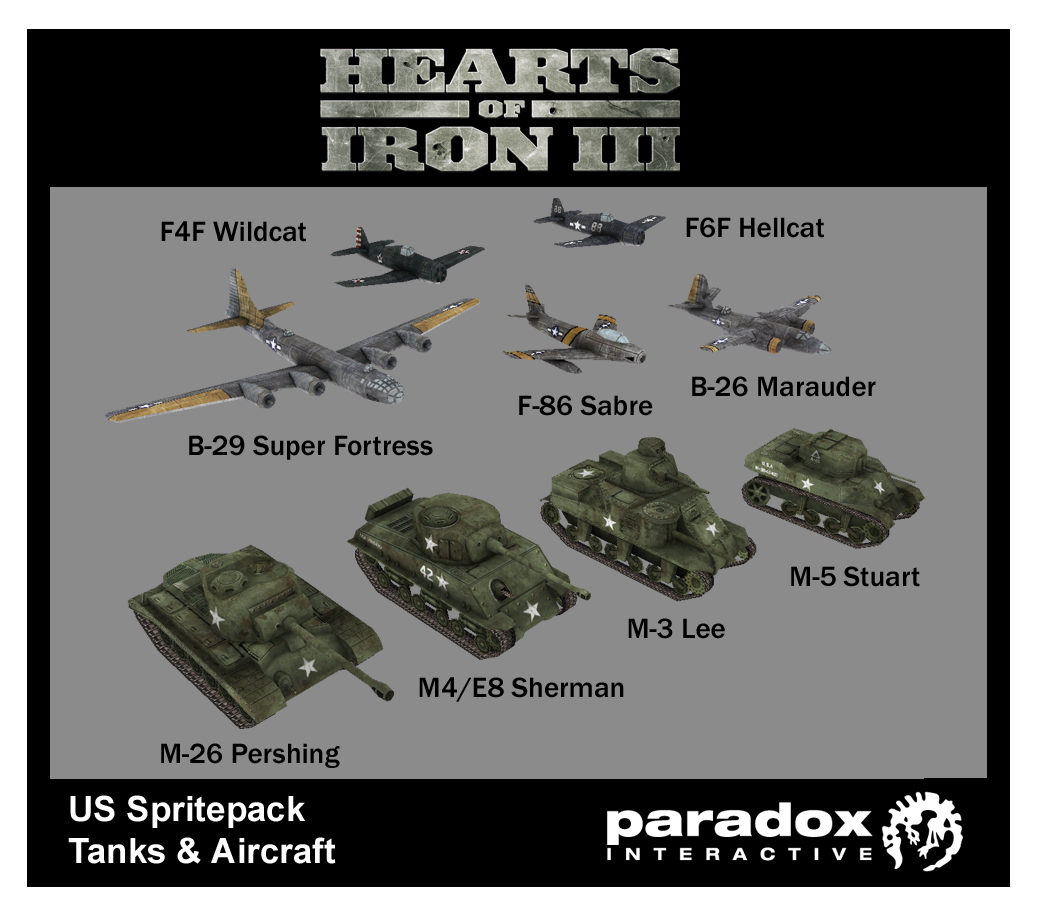 Hearts of Iron III: US Pack DLC screenshot