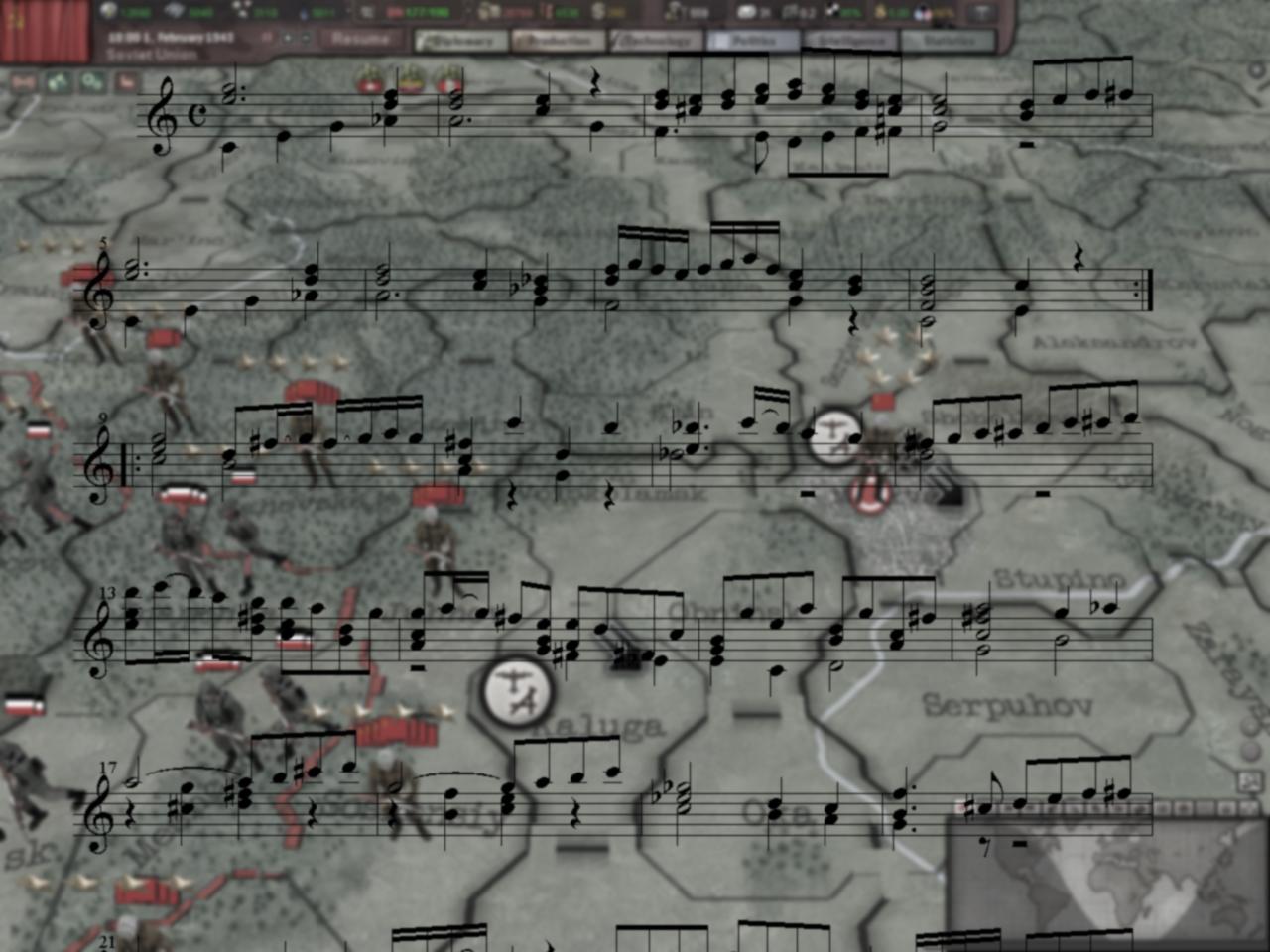 Hearts of Iron III: Soviet Music Pack DLC screenshot
