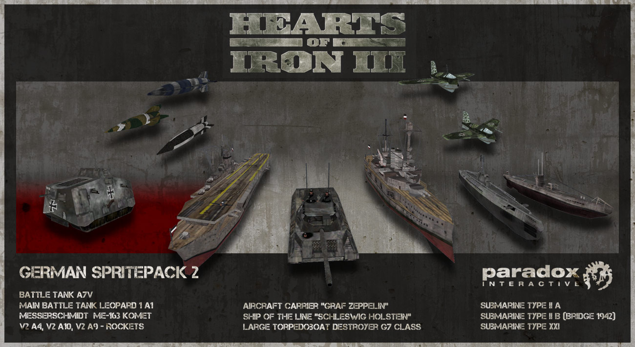 Hearts of Iron III DLC: German II Spritepack  screenshot