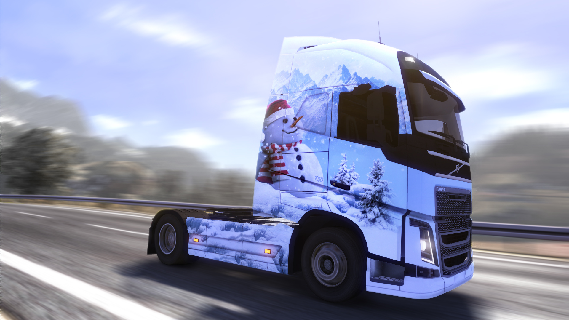 Euro Truck Simulator 2 - Ice Cold Paint Jobs Pack screenshot