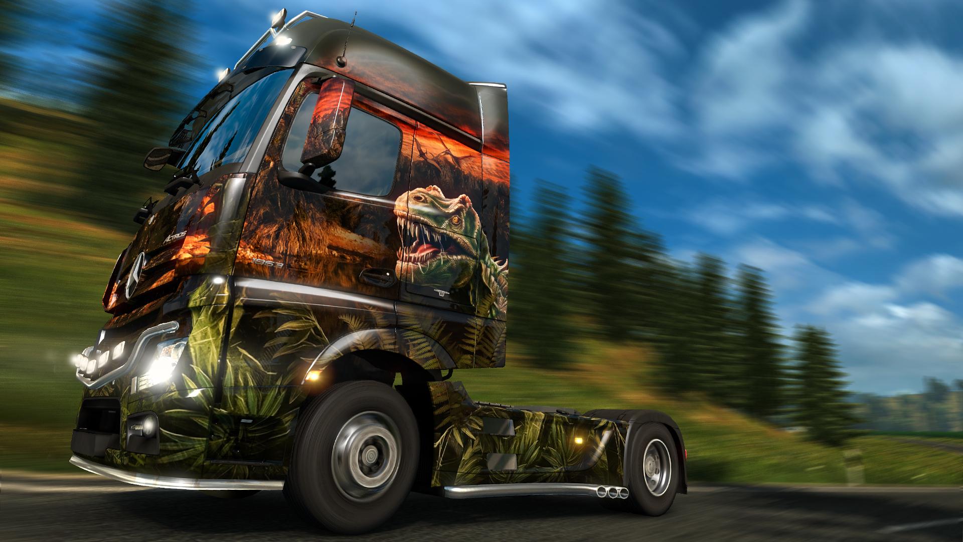 Euro Truck Simulator 2 - Prehistoric Paint Jobs Pack screenshot