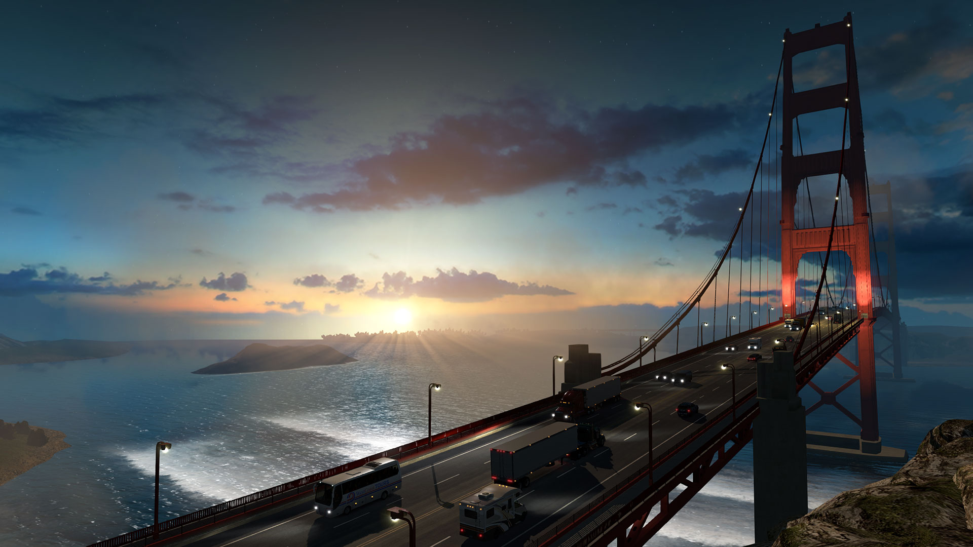 Some of the views from American Truck Sim