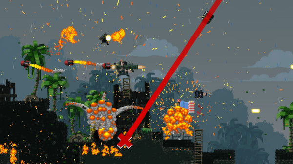 BroForce features great pixel graphics