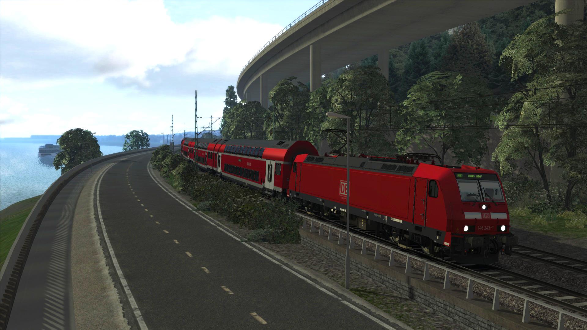 train simulator west rhine k ln koblenz route add on. Black Bedroom Furniture Sets. Home Design Ideas
