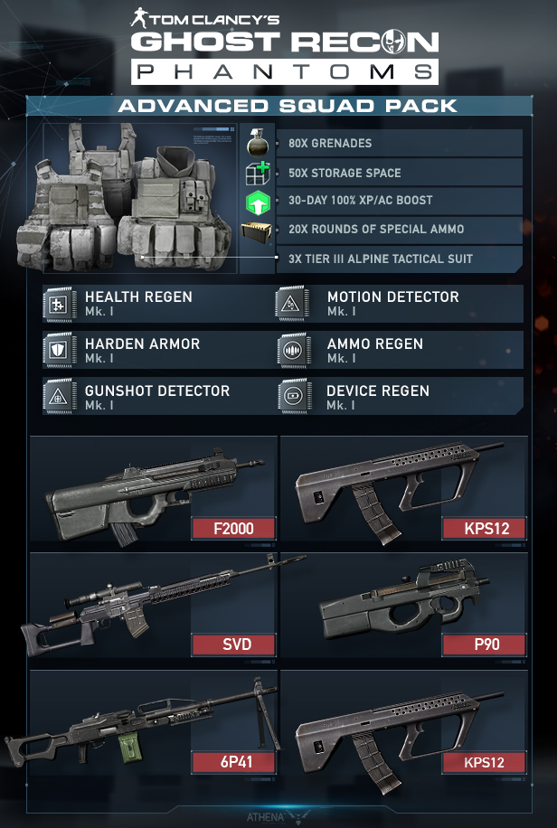 Tom clancy s ghost recon phantoms na advanced squad pack on steam