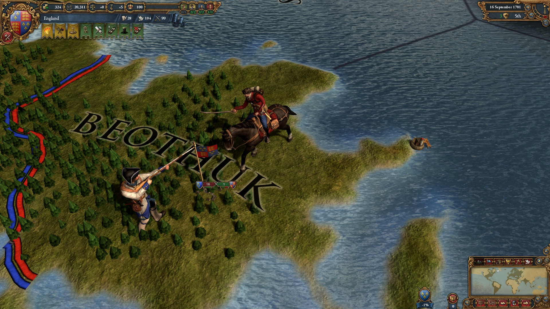 Europa Universalis IV: Colonial British and French Unit pack screenshot