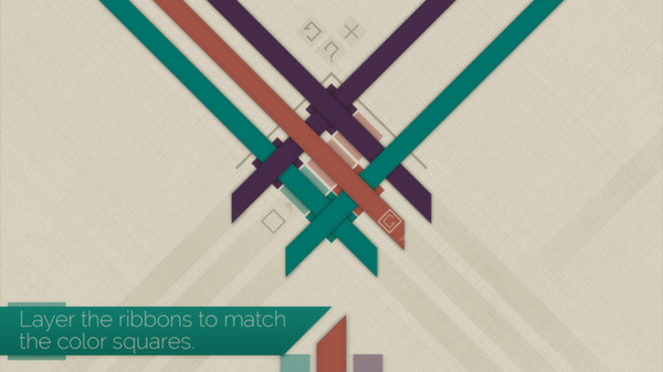 In Strata you layer the ribbons to match the color squares