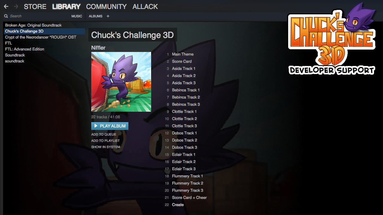Chuck's Challenge 3D: Soundtrack & DLC screenshot