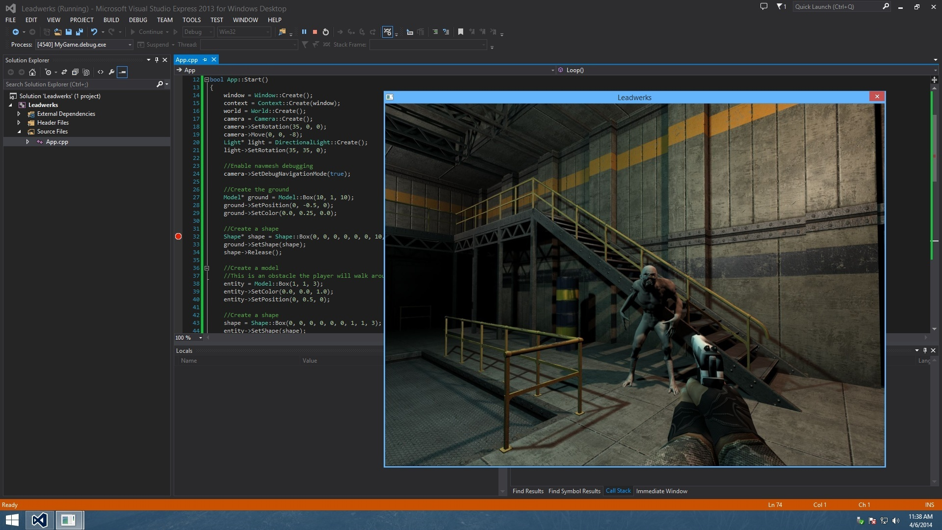 how to create a video game engine