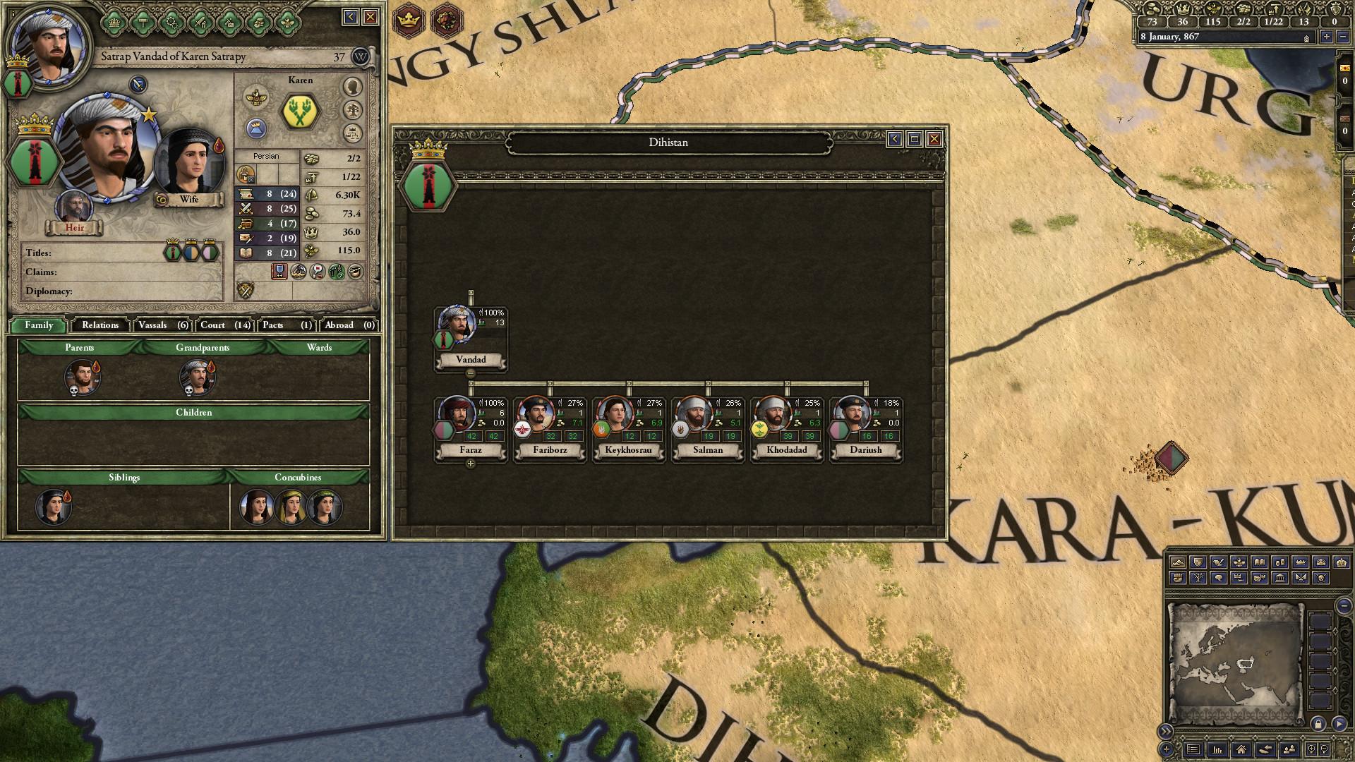 Crusader Kings II: Persian Portraits screenshot