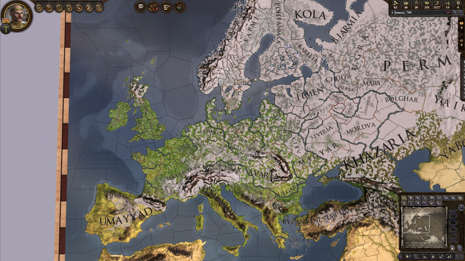 Crusader Kings II: Dynasty Shields Charlemagne screenshot