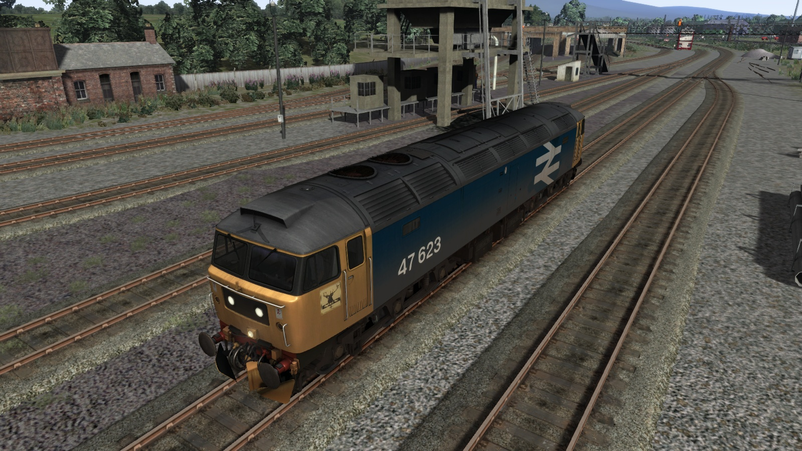 BR Blue Class 47 Large Logo Highland Rail Livery Add-On screenshot
