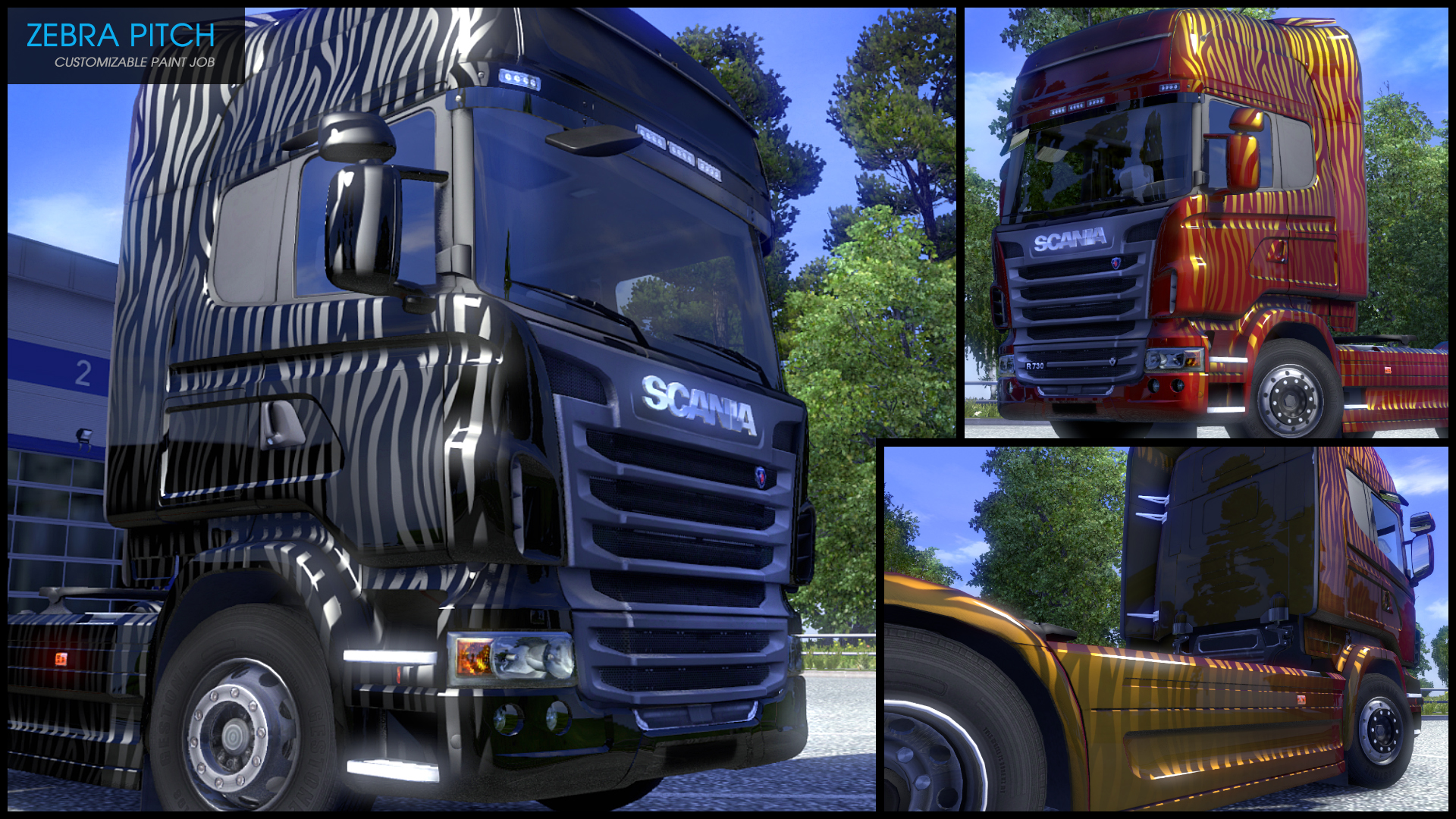 Euro Truck Simulator 2 - Flip Paint Designs screenshot