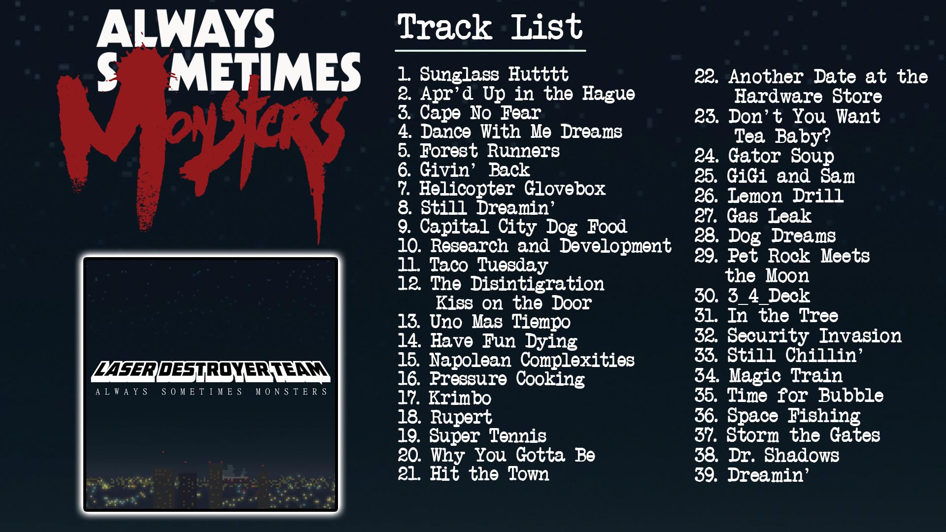 Always Sometimes Monsters (Soundtrack) screenshot