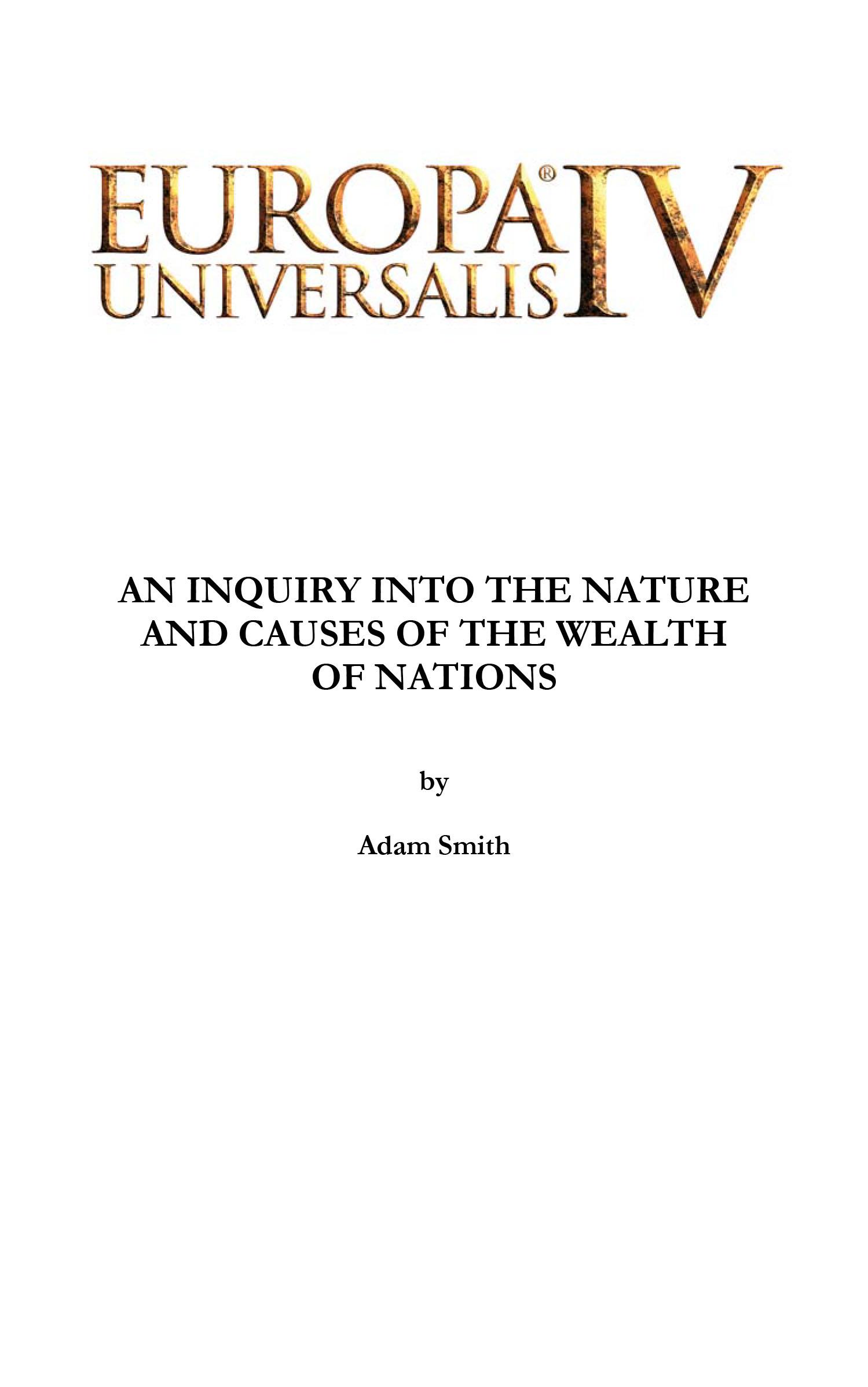 Europa Universalis IV: Wealth of Nations E-book screenshot