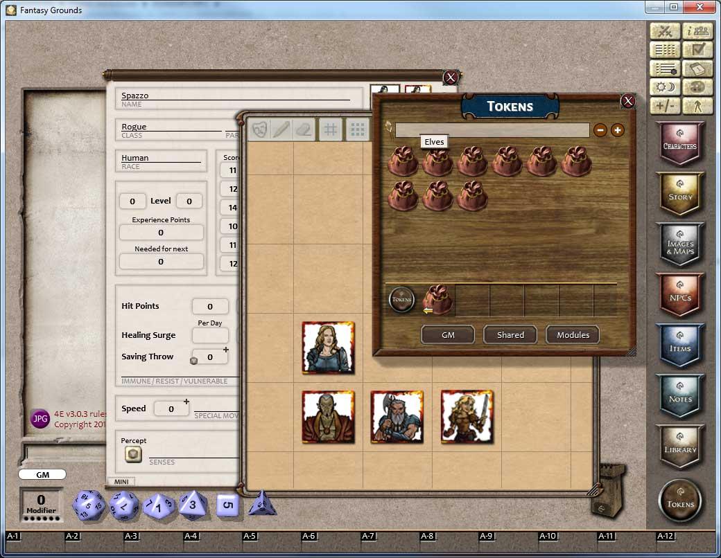 Fantasy Grounds - Gaming Tokens & Portraits Pack #3: PC's & NPCs screenshot