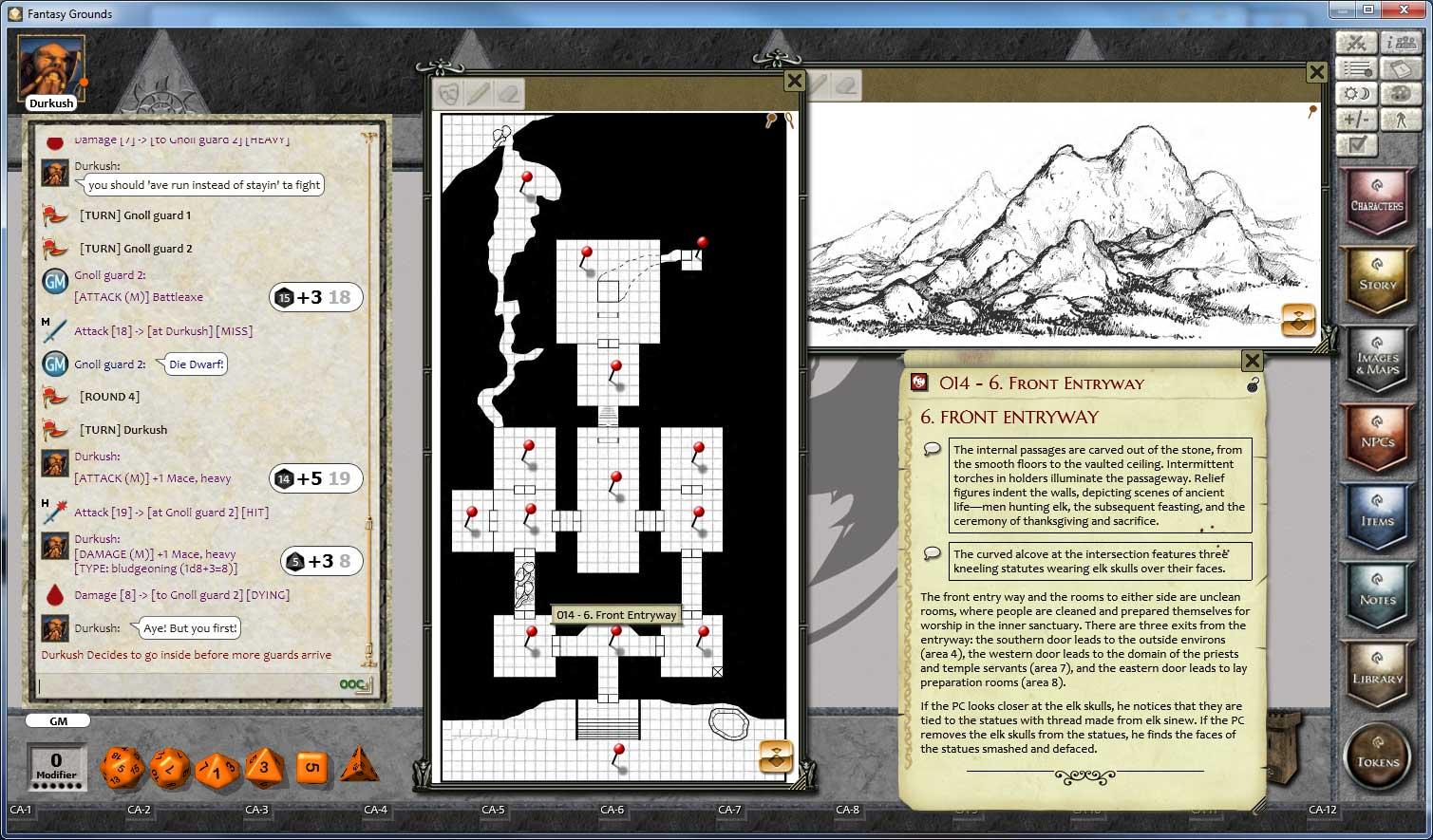 Fantasy Grounds - 3.5E/PFRPG 1 on 1 Adventure #3 The Forbidden Hills screenshot