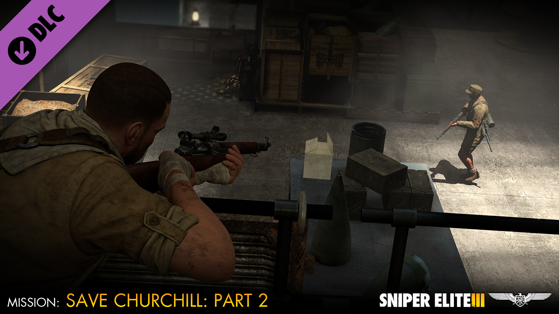 Sniper Elite 3 - Save Churchill Part 2: Belly of the Beast screenshot